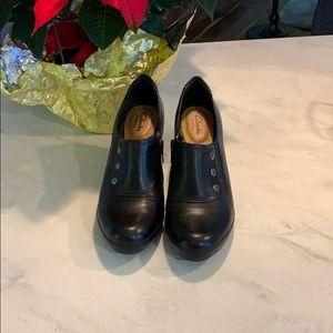 Clarks Artisan Shoes Genuine Leather Black 9
